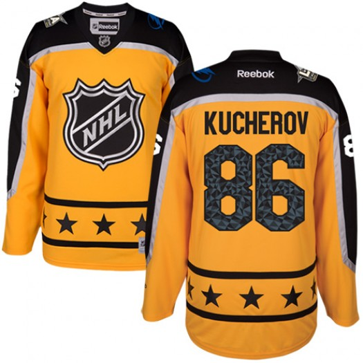 Nikita Kucherov Tampa Bay Lightning Men's Reebok Premier Yellow Atlantic Division 2017 All-Star Jersey