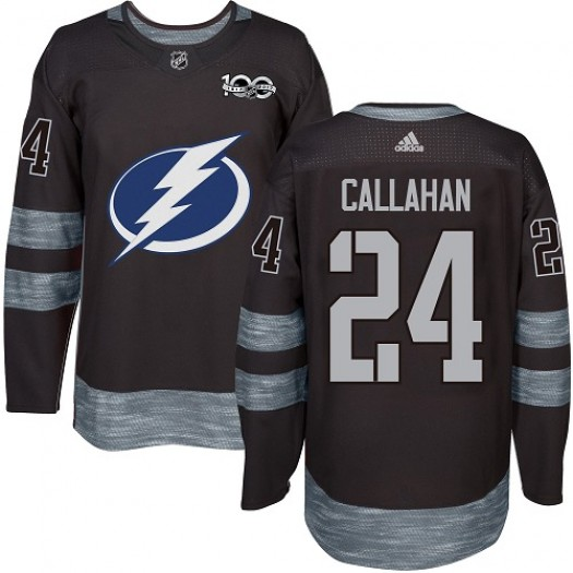 Ryan Callahan Tampa Bay Lightning Men's Adidas Authentic Black 1917-2017 100th Anniversary Jersey