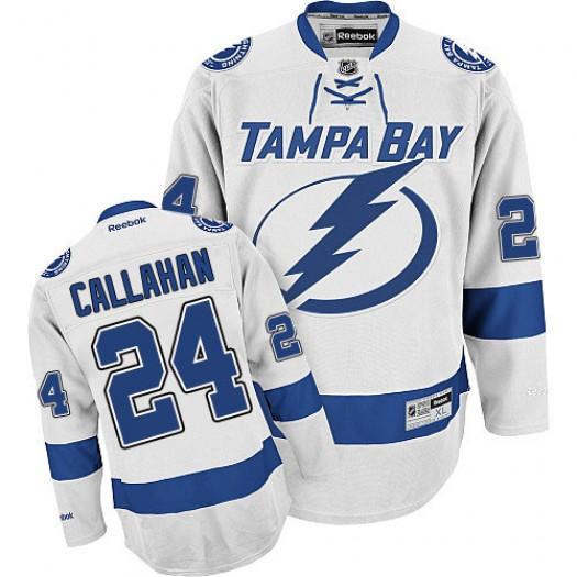 Ryan Callahan Tampa Bay Lightning Men's Reebok Authentic White Away Jersey