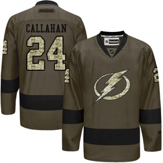 Ryan Callahan Tampa Bay Lightning Men's Reebok Premier Green Salute to Service Jersey