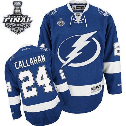 Ryan Callahan Tampa Bay Lightning Men's Reebok Premier Royal Blue Home 2015 Stanley Cup Patch Jersey