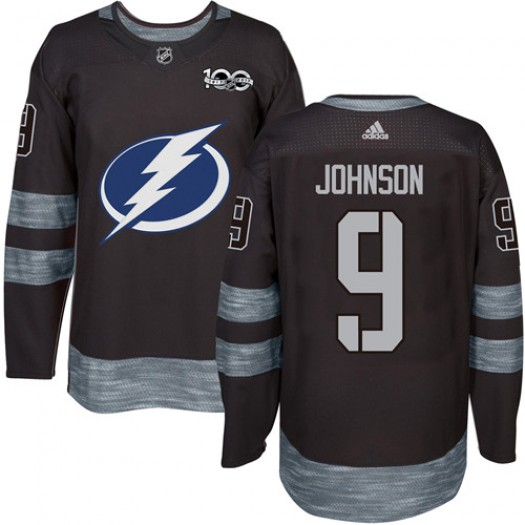 Tyler Johnson Tampa Bay Lightning Men's Adidas Authentic Black 1917-2017 100th Anniversary Jersey