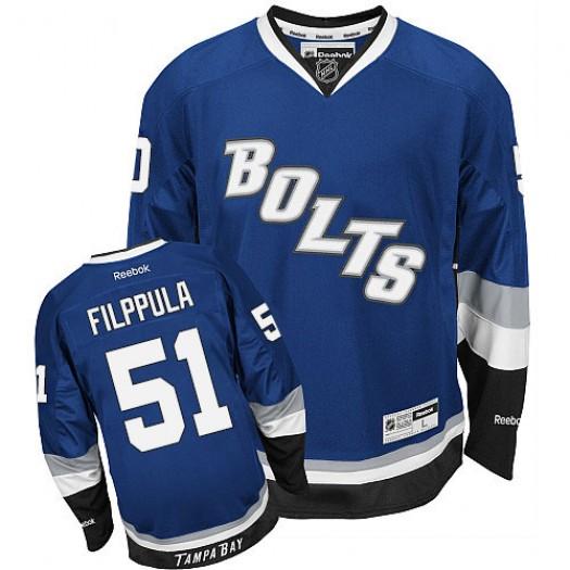 Valtteri Filppula Tampa Bay Lightning Men's Reebok Authentic Royal Blue Third Jersey