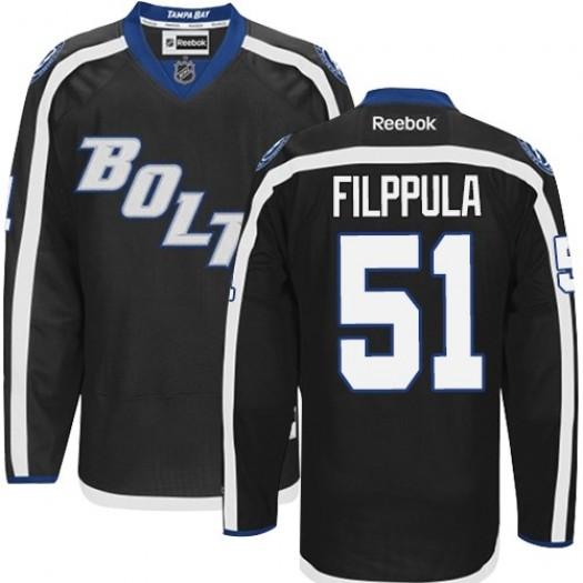 Valtteri Filppula Tampa Bay Lightning Men's Reebok Premier Black New Third Jersey