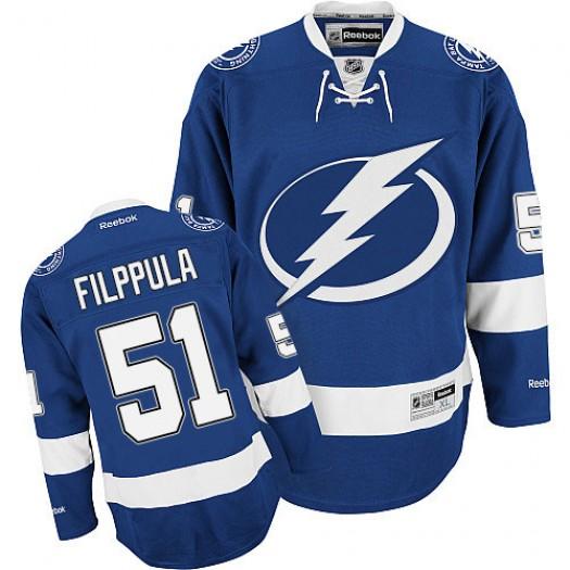 Valtteri Filppula Tampa Bay Lightning Men's Reebok Premier Royal Blue Home Jersey