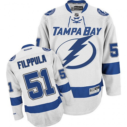 Valtteri Filppula Tampa Bay Lightning Men's Reebok Premier White Away Jersey