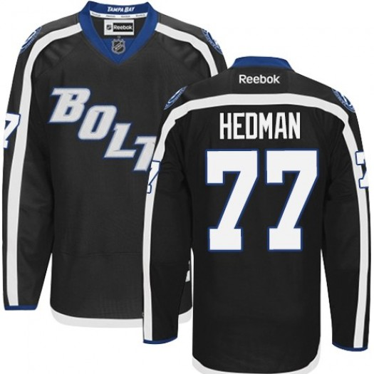 Victor Hedman Tampa Bay Lightning Men's Reebok Authentic Black New Third Jersey