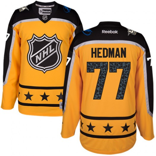 Victor Hedman Tampa Bay Lightning Men's Reebok Authentic Yellow Atlantic Division 2017 All-Star Jersey