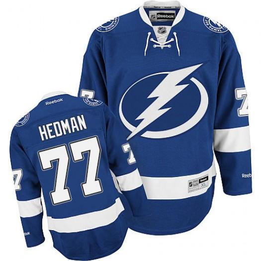 Victor Hedman Tampa Bay Lightning Men's Reebok Premier Royal Blue Home Jersey