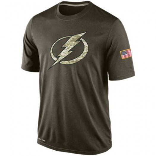 Tampa Bay Lightning Men's Nike Olive Salute To Service KO Performance Dri-FIT T-Shirt