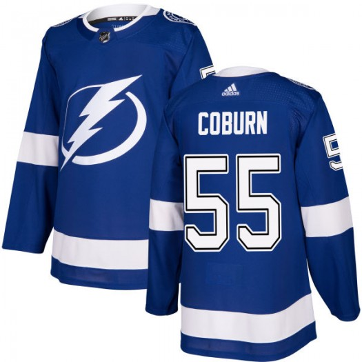 Braydon Coburn Tampa Bay Lightning Men's Adidas Authentic Blue Jersey