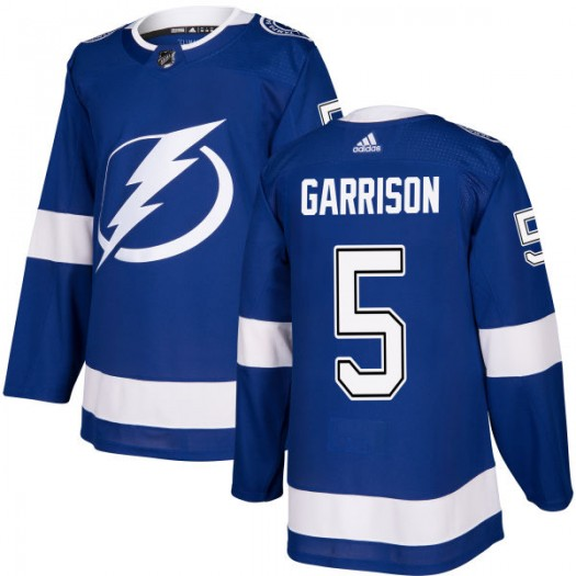 Jason Garrison Tampa Bay Lightning Men's Adidas Authentic Blue Jersey