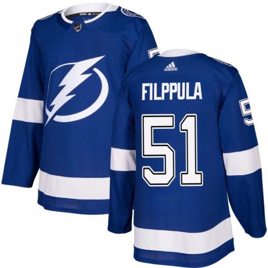 Valtteri Filppula Tampa Bay Lightning Men's Adidas Authentic Blue Jersey
