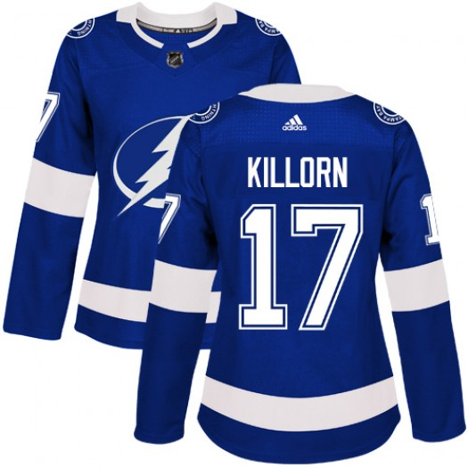 Alex Killorn Tampa Bay Lightning Women's Adidas Authentic Royal Blue Home Jersey
