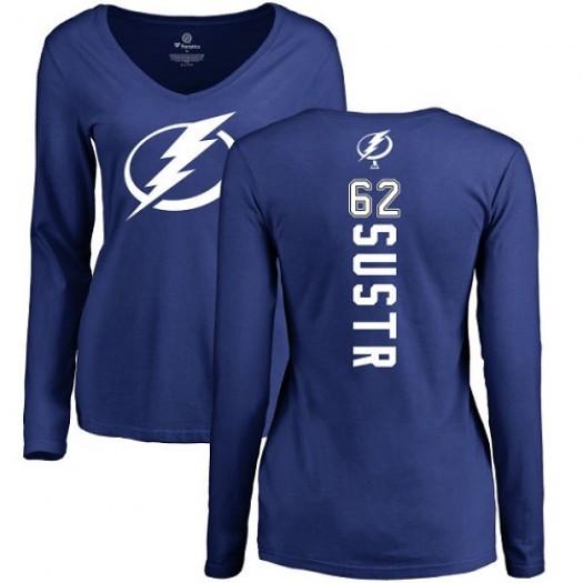 Andrej Sustr Tampa Bay Lightning Women's Adidas Premier Royal Blue Home Jersey
