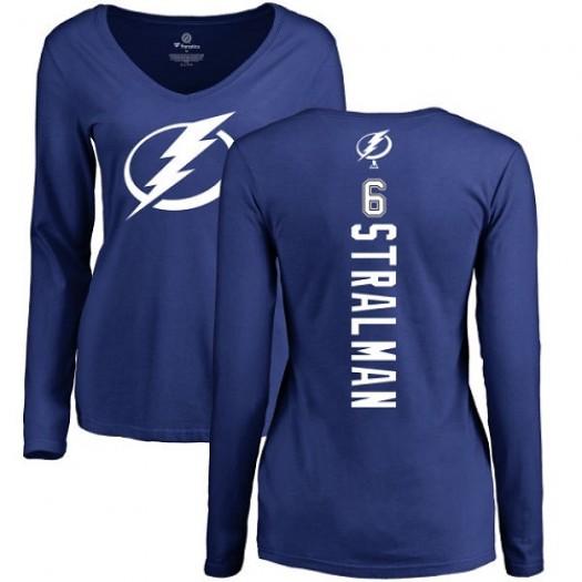 Anton Stralman Tampa Bay Lightning Women's Adidas Premier Royal Blue Home Jersey