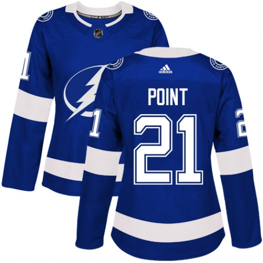 Brayden Point Tampa Bay Lightning Women's Adidas Authentic Royal Blue Home Jersey