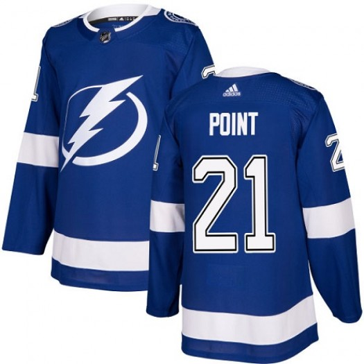 Brayden Point Tampa Bay Lightning Youth Adidas Authentic Royal Blue Home Jersey