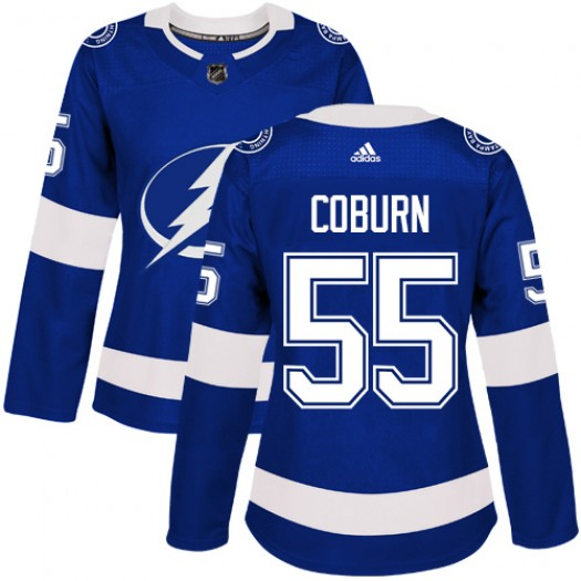 Braydon Coburn Tampa Bay Lightning Women's Adidas Authentic Royal Blue Home Jersey