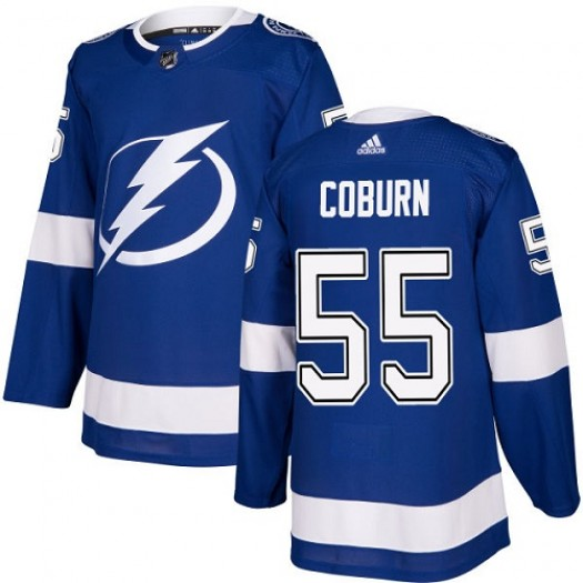 Braydon Coburn Tampa Bay Lightning Youth Adidas Authentic Royal Blue Home Jersey