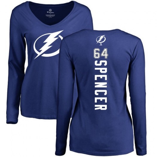 Matthew Spencer Tampa Bay Lightning Women's Adidas Premier Royal Blue Home Jersey