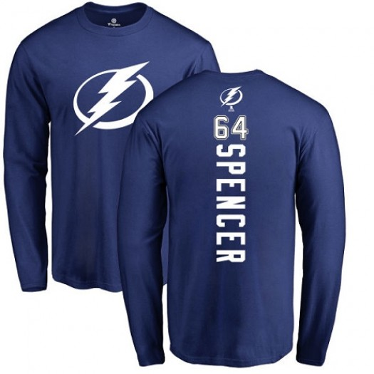 Matthew Spencer Tampa Bay Lightning Youth Adidas Premier Royal Blue Home Jersey