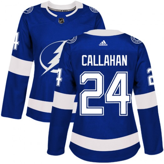 Ryan Callahan Tampa Bay Lightning Women's Adidas Authentic Royal Blue Home Jersey