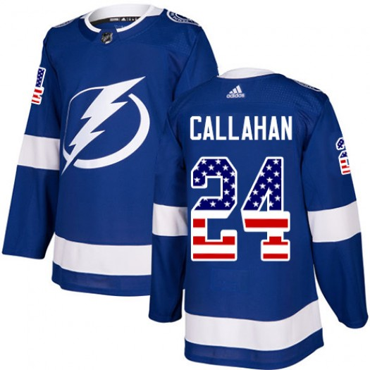 Ryan Callahan Tampa Bay Lightning Youth Adidas Authentic Blue USA Flag Fashion Jersey