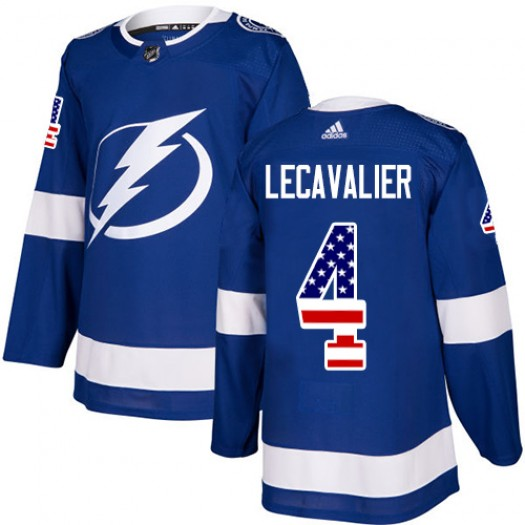 Vincent Lecavalier Tampa Bay Lightning Men's Adidas Authentic Blue USA Flag Fashion Jersey