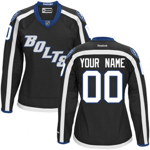 Women's Reebok Tampa Bay Lightning Customized Authentic Black New Third Jersey
