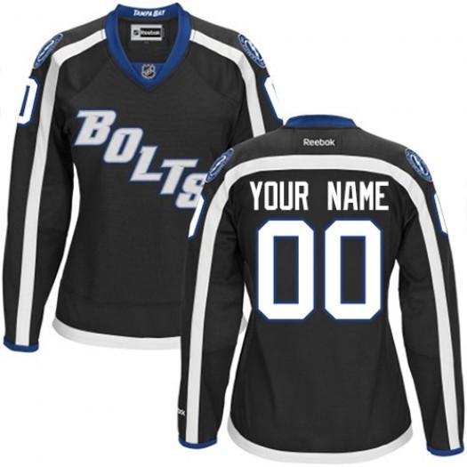 Women's Reebok Tampa Bay Lightning Customized Premier Black New Third Jersey